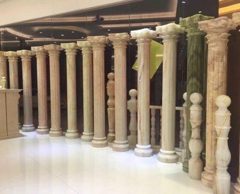 Cột tròn đá marble