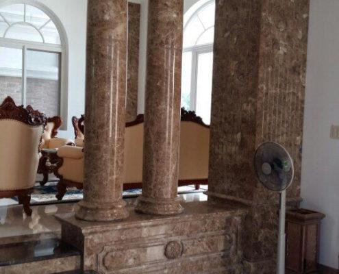 cột tròn đá nâu tây ban nha