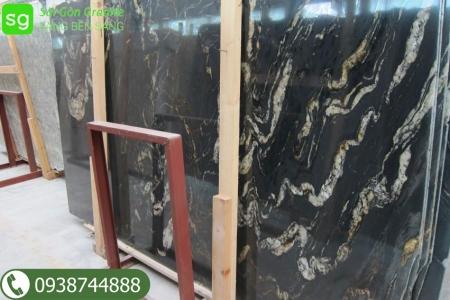 đá marble đen vân trắng